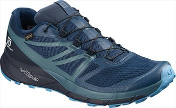 Salomon Sense Ride 2 GTX Invis. Fit Trail Running Shoe, UK 7.5 Blue