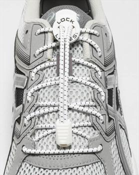 Lock Laces No-Tie Replacement Shoelaces, White