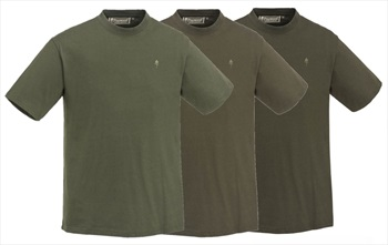 Pinewood 3-Pack Short Sleeve T-Shirt, L Green/Hunting Brown/Khaki