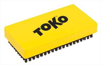 Toko Ski/Snowboard Base Brush, Combi Nylon/Copper Yellow
