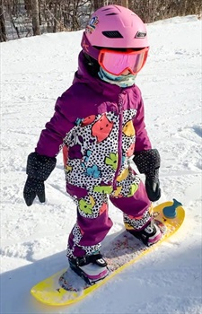 Burton Girl MiniShred Illusion One Piece Snow Ski Suit, 4T Hoos There