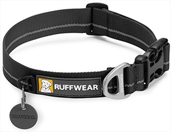 Ruffwear Hoopie Webbing Dog Collar M Obsidian Black
