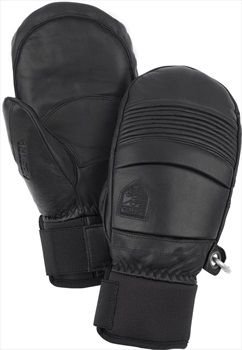 Hestra Leather Fall Line Ski/Snowboard Mitts, M Black