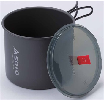Soto New River Pot Backpacking & Camping Cookware, 1L Grey