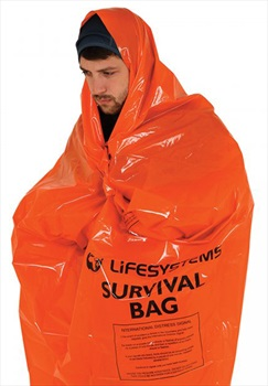 Lifesystems Survival Bag Compact Emergency Blanket, 1-2 Persons Orange