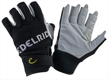 Edelrid Work Glove Open Half-Finger Climbing Gloves, S, Snow