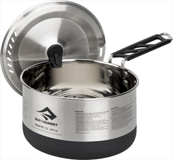 Sea to Summit Sigma Pot Stainless Steel Camping Cookware, 1.2L