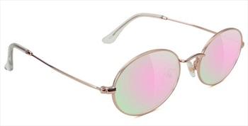 Glassy Sunhaters Stark Pink Mirror Lens Sunglasses, Rose Gold
