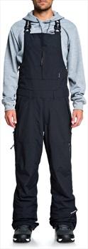 DC Nomad Bib Ski/Snowboard Bib Pants, L Black