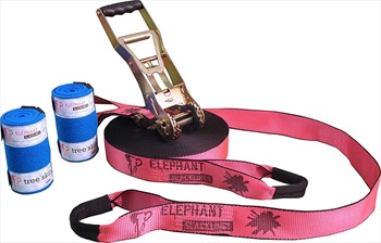 Elephant Slacklines Addict Flash'line Slackline Set, 25m X 50mm Pink