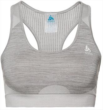 Odlo Womens Seamless Medium Sports Bra, XL Steel Grey Melange