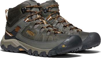 Keen Adult Unisex Targhee Iii Mid Wp Hiking Boots, Uk 13 Black Olive/Golden Brown