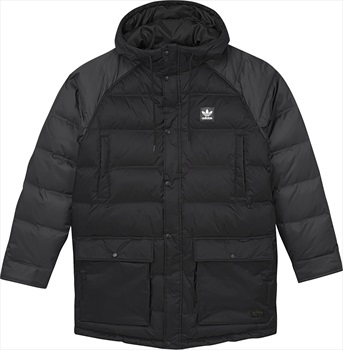 Adidas Mens Down Insulated Jacket, M Black/Utility Black/Scarlet