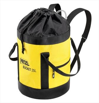 Petzl Bucket Rock Climbing Rope Bag, 25L Black/Yellow
