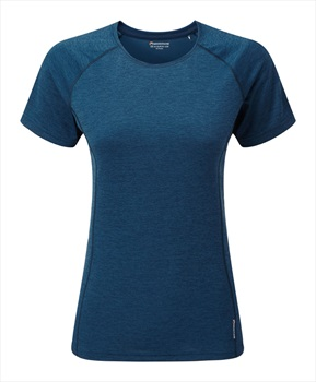 Montane Dart Short Sleeve Women's Quick Dry T-Shirt, XS Narwhal Blue