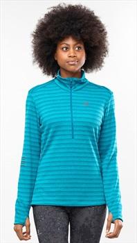 Salomon Lightning Half Zip Women's Midlayer Top, S Tile Blue