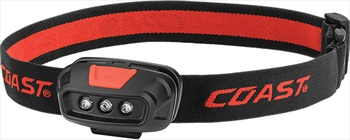 Coast FL14 Headtorch IPX4 LED With Red Light, 37 Lumens Black / Red