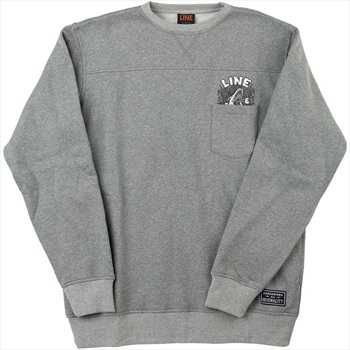 LINE Adult Unisex Dropout Crew Neck Jumper, XL Heather Grey