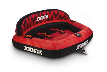 Jobe Proton Towable Inflatable Tube, 3 Rider Red Black 2020