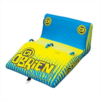 O'Brien Squeeze Wedge Towable Inflatable Tube, 2 Rider Blue 2019