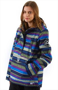 Westbeach Melody Women's Overhead Anorak Jacket, L Multicolour Aztec