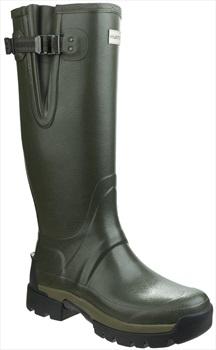 Hunter Balmoral Adjustable Neoprene Wellington Boot, UK 6 Dark Olive