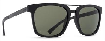Von Zipper Plimpton Vintage Grey Lens Sunglasses, Black Satin