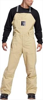 Adidas Utility Bib Ski/Snowboard Pants, L Sand / Collegiate Gold