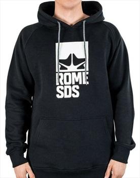 Rome Logo Ski/Snowboard Pullover Hoodie, M Black