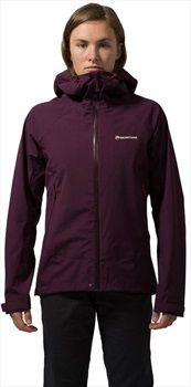 Montane Element Stretch Women's Waterproof Jacket, UK 12 Sask Berry