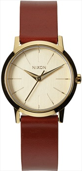 Nixon Kenzi Leather Women's Wrist Watch Gold/Saddle