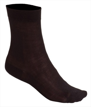Silkbody Puresilk Mid Liner Socks, L Black