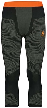 Odlo Blackcomb 3/4 Pants Mens Baselayer, XL Ivy/Black/Orange
