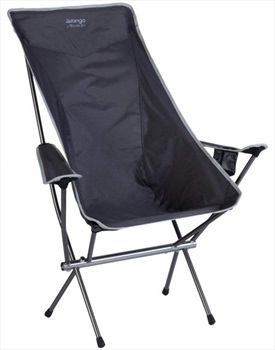 Vango Microlite Deluxe Chair Folding Camp Chair, Smoke