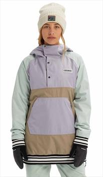 Burton Loyle Anorak Women's Snowboard/Ski Jacket, S Aqua Grey/Lilac