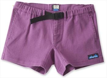 Kavu Patcho Mid Rise Women's Cotton Short Shorts, UK 12 Violet