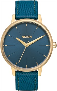 Nixon Kensington Leather Women's Watch, Light Gold/Mallard
