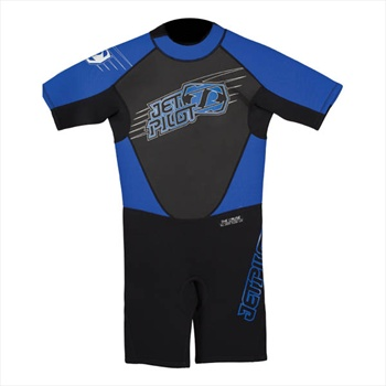 JetPilot Cause Youth 2/2 Shorty Wetsuit, L, 12-13 Years Blue