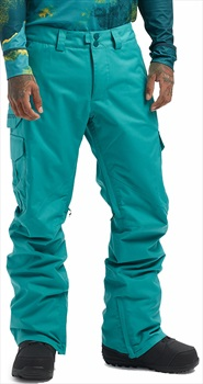 Burton Cargo Relaxed Fit Snowboard/Ski Pants, XXS Green/Blue Slate