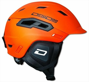 Dirty Dog Crater Snowboard/Ski Helmet, XL Matte Orange Black