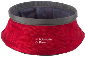 Mountain Paws Dog Water Bowl Portable Fold Away Travel, 21cm Red