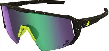 Melon Adult Unisex Alleycat Violet Chrome Performance Sunglasses, M/L Paint Splat/Yellow