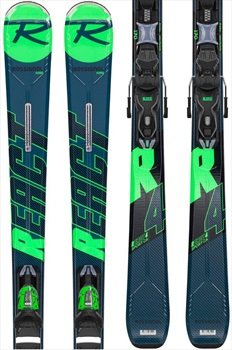 Rossignol React R4 CA Xpress 10 Skis, 162cm Blue/Green 2020