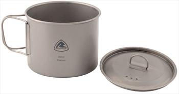 Robens Titanium Pot Ultralight Camping Cookware, 900ml Grey