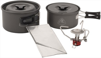 Robens Fire Ant Cook System 2-3 Camping Stove & Pan Set, 1.1/1.8L