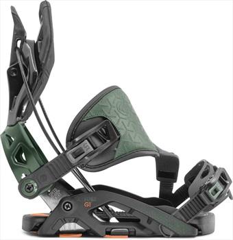 Flow Fuse GT Hybrid Step In Snowboard Bindings, L Black/Green 2020