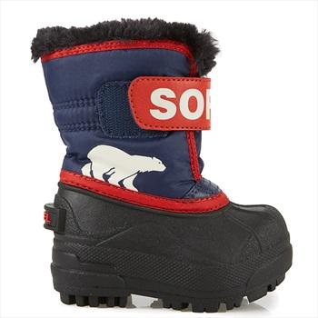 Sorel Snow Commander Kid's Snow Boots, UK Infant 4 Nocturnal/Sail Red
