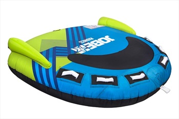 Jobe Madness Towable Inflatable Tube, 3 Rider Blue Lime 2020