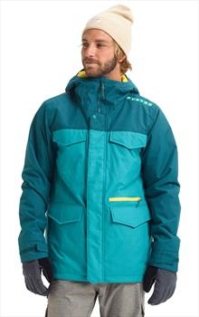 Burton Covert Ski/Snowboard Jacket, L Green Blue Slate/Deep Teal