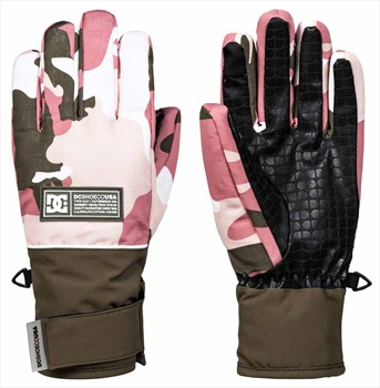 DC Franchise Women's Ski/Snowboard Gloves, M Dusty Rose Vintage Camo